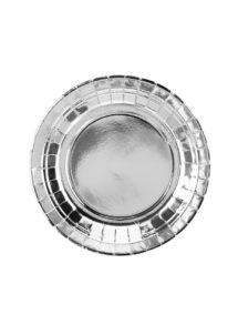 assiettes en carton, vaisselle jetable, assiettes argent, vaisselle jetable qualité, assiettes Noel, assiettes argent, Vaisselle Argent Métal, Assiettes 18 cm
