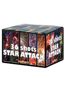 feu d'artifice pour particulier, achat feux d'artifice, feux d'artifices pour jardin, feu d'artifice automatique, Feux d'Artifices Compacts, 36 Coups, Star Attack