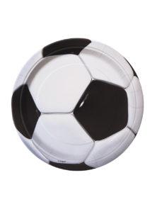 assiettes foot, vaisselle jetable, décorations thème foot, assiettes football, décorations coupe du monde, Vaisselle Ballon de Foot, Assiettes 23 cm