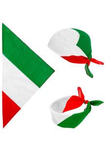 bandana italien, bandana drapeau Italie, bandana drapeau italien, accessoire déguisement italie, Bandana Italie