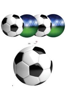 décorations foot, décorations ballons de foot, euro, coupe du monde, Décoration Découpes Ballons de Foot à Suspendre