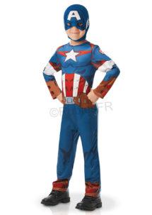déguisement captain America enfant, déguisement super héros garçon, déguisement super héros enfants, costume Captain America, Déguisement de Captain America, Classique, Garçon