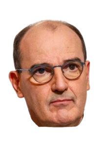 masque castex, masque jean castex, masques célébrités, masques politiques, Masque Jean Castex