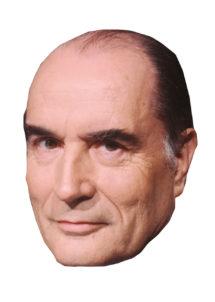 masque François Mitterrand, masque président, masques politiques, masques célébrités, Masque François Mitterrand