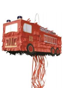 PINATA-CAMION-DE-POMPIER, Pinata Camion de Pompier