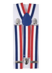 bretelles france, bretelles drapeau français, accessoire supporter, accessoires france, Bretelles France, Drapeau Bleu Blanc Rouge