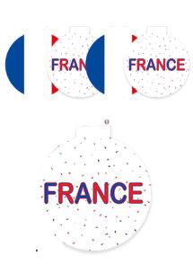 décorations France, décorations euro, décorations coupe du monde, décorations 14 juillet, Décoration Découpes France, à Suspendre