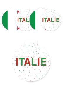 décoration Italie, décorations euro, décorations coupe du monde, Décoration Découpes Italie, à Suspendre