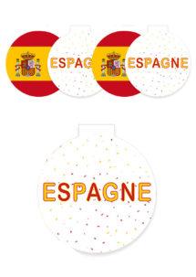 décorations Espagne, décorations coupe du monde, décorations euro, Décoration Découpes Espagne, à Suspendre
