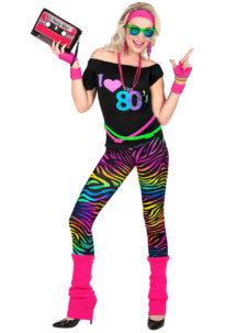 déguisement années 80, costume années 80, legging années 80, Déguisement Années 80, I Love 80's