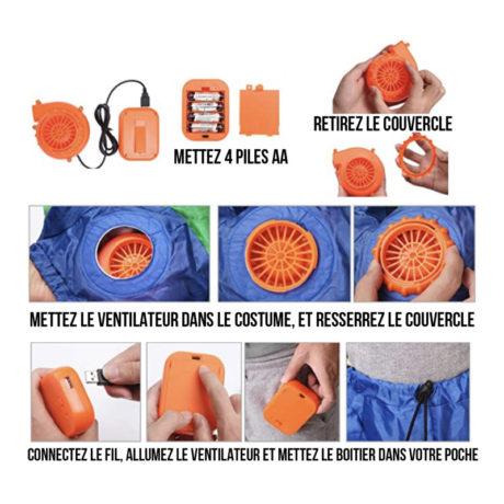deguisement-gonflable Déguisement Gonflable, Coq de Supporter France
