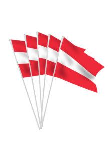 drapeaux de l'Autriche, drapeaux autrichien, drapeaux euro, drapeau autrichien, drapeaux de table, drapeaux à agiter, Drapeau de l'Autriche x 10, Drapeaux de Table