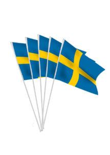 drapeaux de la suède, drapeaux suédois, drapeaux euro, drapeau autrichien, drapeaux de table, drapeaux à agiter, Drapeau de la Suède x 10, Drapeaux de Table