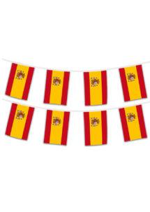 guirlande drapeaux espagnols, drapeaux des pays, guirlande fanions Espagne, coupe du monde, Guirlande Drapeaux, Espagne, 5 m