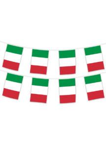 guirlande drapeaux Italie, guirlande pays, guirlande fanions Italie, décorations Italie, Guirlande Drapeaux, Italie, 5 m