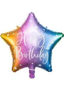 ballon anniversaire, ballons étoiles anniversaire, ballon happy birthday, Ballon Anniversaire, Etoile Rainbow, en Aluminium