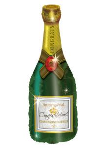 ballon bouteille de champagne, ballon hélium, ballon aluminium, ballon mylar, ballon anniversaire, ballon à l'hélium, ballon réveillon, Ballon Bouteille de Champagne Brut Imperial, en Aluminium
