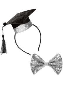 chapeau de lauréat, coiffe de lauréat, chapeau étudiant lauréat, chapeau de diplomé, Chapeau de Lauréat Mini, avec Noeud Papillon