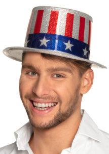 chapeaux, chapeaux haut de forme, chapeaux états unis, chapeaux paris, chapeau haut de forme, drapeaux américains, soirée états unis, chapeau oncle sam, Chapeau Haut de Forme, USA Paillettes