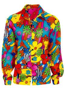 chemise hippie, chemise flower power, déguisement hippie, Déguisement Hippie, Chemise Flower Power