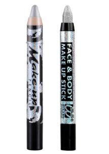 crayon maquillage argent, crayon maquillage paillettes argent, crayons argent, Crayon à Maquillage, Métal ou Paillettes, Argent