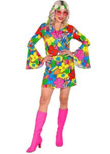 déguisement hippie femme, costume de hippie femme, déguisement robe hippie femme, soirée à thème hippie, Déguisement Hippie, Flower Power 70's
