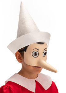Masque de pinocchio, masque pinocchio, Masque de Pinocchio en Latex, Demi Visage