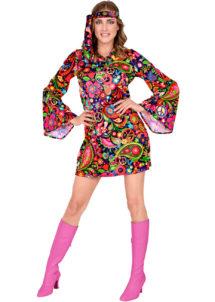 déguisement hippie femme, costume de hippie femme, déguisement robe hippie femme, soirée à thème hippie, Déguisement Hippie Festival 70's