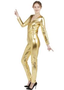déguisement doré, combinaison doré, déguisement alien, déguisement disco femme, Combinaison Moulante Métallisée, Dorée