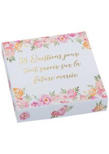 jeu de questions EVJF, boite de jeux spécial evjf, bride to be, Boite de Jeu de Questions EVJF Fleuri, Bride to Be