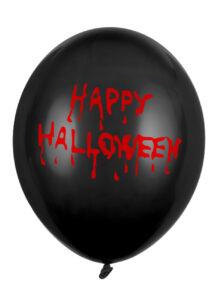 ballons halloween, ballons noir hallowen, décorations halloween, Ballons Imprimés Happy Halloween, en Latex, x 10