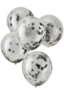 ballons hélium, ballons halloween, ballons confettis, ballons araignées, ginger ray, 1 Bouquet de Ballons Confettis Araignées, Halloween
