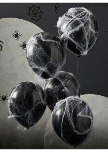 ballons noirs, ballons halloween, ballons toile d'araignée, ballons ginger ray, 1 Bouquet de Ballons Noirs, Toile et Araignées, Halloween
