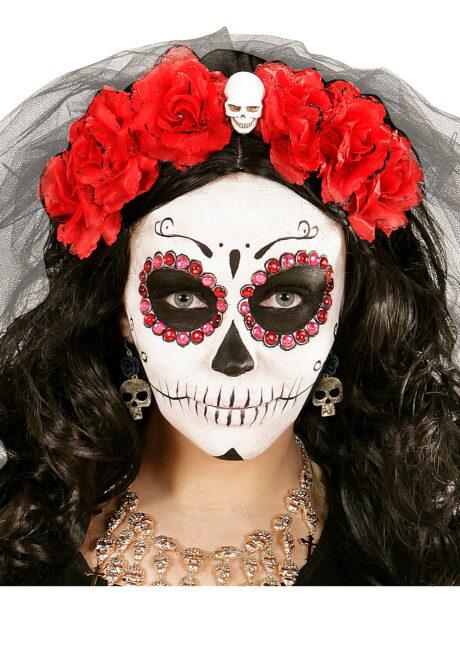 bijoux déguisement halloween, accessoire bijoux déguisement, accessoire déguisement halloween, boucles d'oreilles dia de los muertos, accessoire mexicain halloween, accessoire mort mexicaine halloween, déguisement jour des morts, déguisement jour des morts femme,halloween jour des morts, déguisement jour des morts halloween, Boucles d'Oreilles Jour des Morts, Crânes Métal
