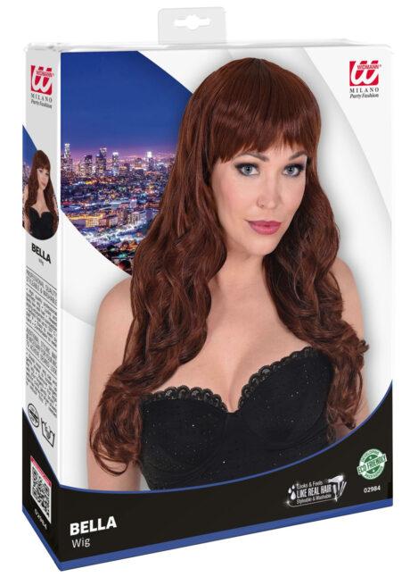 perruque châtain, perruque top qualité, perruque lavable châtain , perruque qualité supérieure, Perruque Bella, Châtain, Lavable et Stylisable