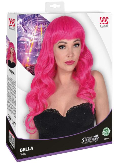 perruque rose, perruque top qualité, perruque lavable rose , perruque qualité supérieure, Perruque Bella, Rose, Lavable et Stylisable