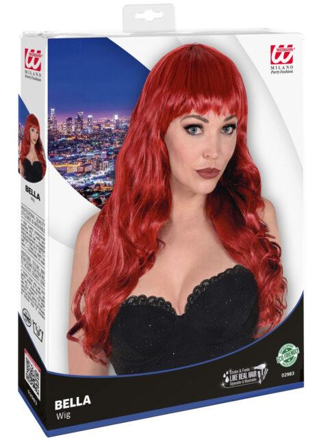 perruque rousse, perruque top qualité, perruque lavable rousse, perruque qualité supérieure, Perruque Bella, Rousse, Lavable et Stylisable