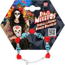 bracelet jour des morts, bijoux jour des morts mexicains, bijoux dia de los muertos, accessoire jour des morts, accessoire mort mexicaine