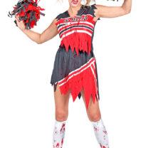 déguisement pompon girl zombie, déguisement halloween femme, costume halloween femme, costume cheerleader zombie