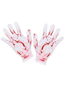 accessoires halloween, gants ensanglantes, gants faux sang, accessoires halloween, Gants Courts Ensanglantés