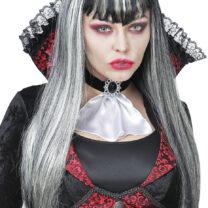 perruque vampire femme, perruque grise, perruque halloween pour femme