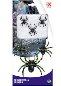 araignées, toile d'araignée, spiderweb, fausses araignées, Araignées x 6 et Toile d'Araignée Blanche
