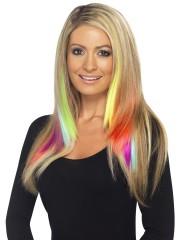 extension de cheveux Mèches Néon, Rajouts Multicolores