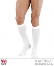 chaussettes blanches, chaussettes déguisement, chaussettes de marquis, chaussettes blanches déguisements, accessoires déguisement, chaussettes de roi Chaussettes Blanches de Marquis