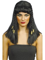 perruque femme, perruque pas cher paris, perruque noire, perruque cléopatre, perruque d'égyptienne, perruque de cléopatre Perruque Cléopatra, Noire