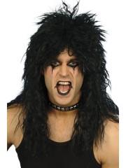 perruque pour homme, perruque pas chère, perruque de déguisement, perruque homme, perruque hard rock, perruque noire, perruque métal Perruque Hard Rock, Noire