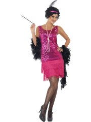 robe charleston déguisement, déguisement charleston, déguisement années 30, robe années 20, costume cabaret, déguisement cabaret femme Déguisement Charleston Fun Time, Rose