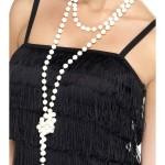 collier de perles, collier perles années 30, collier perles charleston, collier perles cabaret, déguisement charleston, collier années 30, collier perles déguisement, collier perles charleston, accessoires déguisement années 30, accessoires déguisements cabaret, faux collier de perles Collier de Perles à Nouer autour du Cou