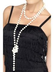 collier de perles, collier perles années 30, collier perles charleston, collier perles cabaret, déguisement charleston, collier années 30, collier perles déguisement, collier perles charleston, accessoires déguisement années 30, accessoires déguisements cabaret, faux collier de perles Collier de Perles