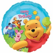ballon hélium, ballon anniversaire, ballon winnie l'ourson, ballon disney Ballon Aluminium, Happy Birthday Winnie l'Ourson